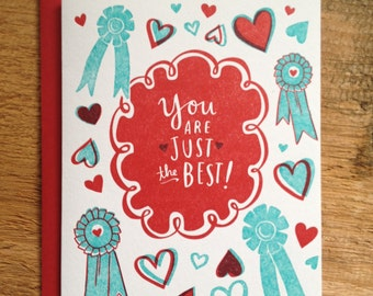 You Are Just the Best - Folded Card