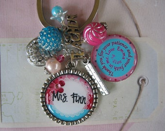 Personalized Teacher's Keychain, end of year gifts