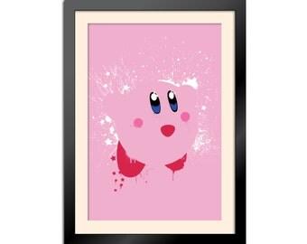 Splattery Kirby Poster