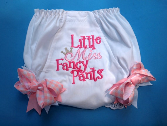 Girly Diaper Cover with Eyelet Lace Edging with Bows