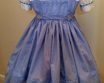 Wizard of Oz inspired Dorothy costume / Sizes 3-14 / Halloween / Birthday / Dress Up / Trunk