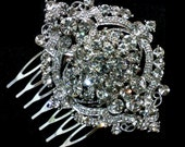 Art Deco Bridal Comb, Vintage Style Wedding Hair Jewelry, Swarovski Crystal Headpiece, ALPHA