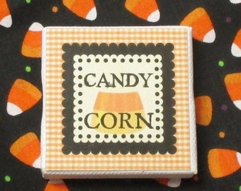 Candy Corn Miniature Picture Sign