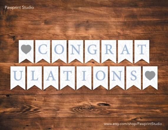congratulations banner printable free