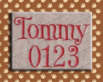 Tommy Embroidery Fonts 3 Sizes