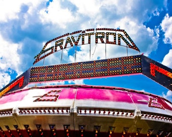 Surreal Carnival Gravitron Spin Ride Fine Art Print- Carnival Art, County Fair, Nursery Decor, Home Decor, Children, Baby, Kids