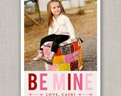 Be Mine Valentine's Day Photo Card