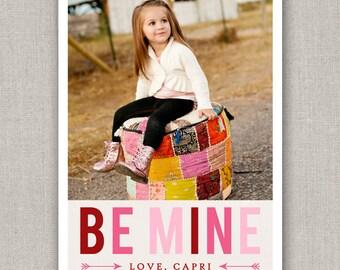 Be Mine Valentine's Day Photo Card