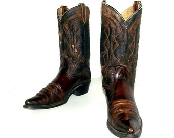 Vintage Texas brand cowboy boots size 9.5 D or cowgirl size 11