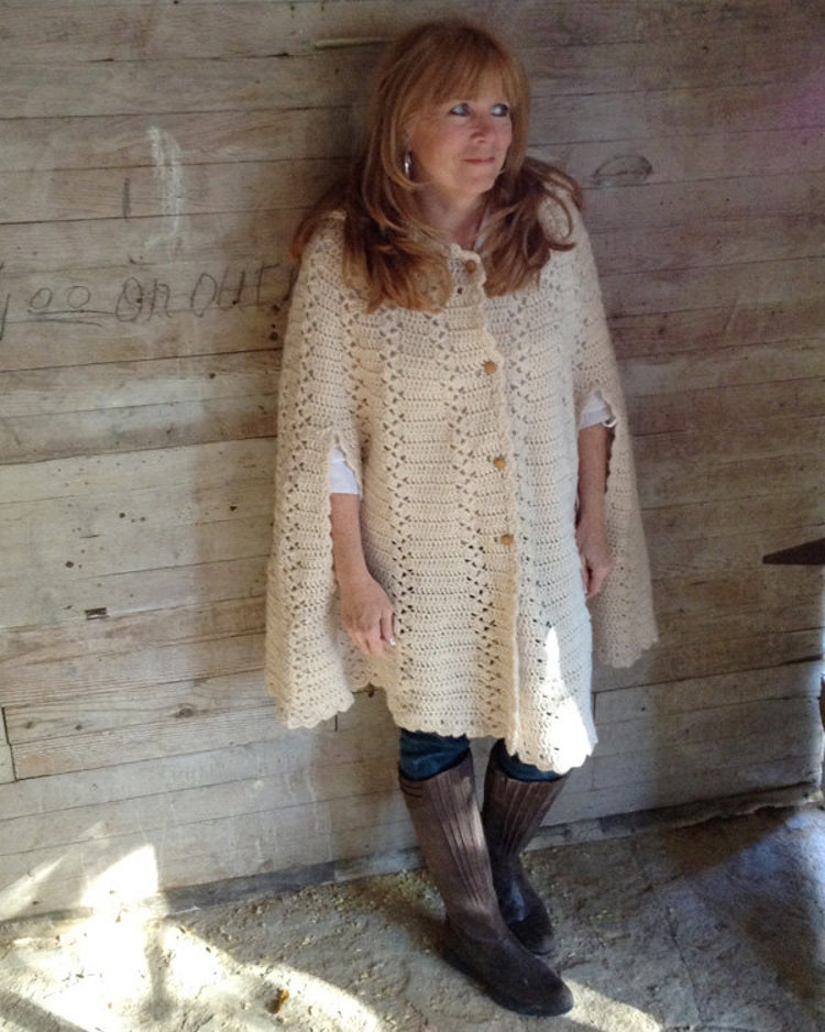 Long Hooded Cape Crochet Pattern Pdf By Maggiescrochet On Etsy