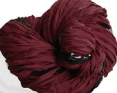Recycled Sari Silk Ribbons, Reclaimed, Fair Trade, Skein no. 302, 83 yds.