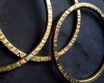 Brass Notched Bangle