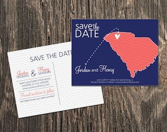 South Carolina – Save the Date –  Destination Wedding – Wedding Save the Dates