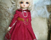 Jiajia Doll limited Andy's little red dress dream - red lace dress fit YOSD 1/6 BJD littlefee imda