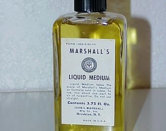 Vintage--Marshall's Liquid Medium--3.75 Oz.--Mix With Turpentine
