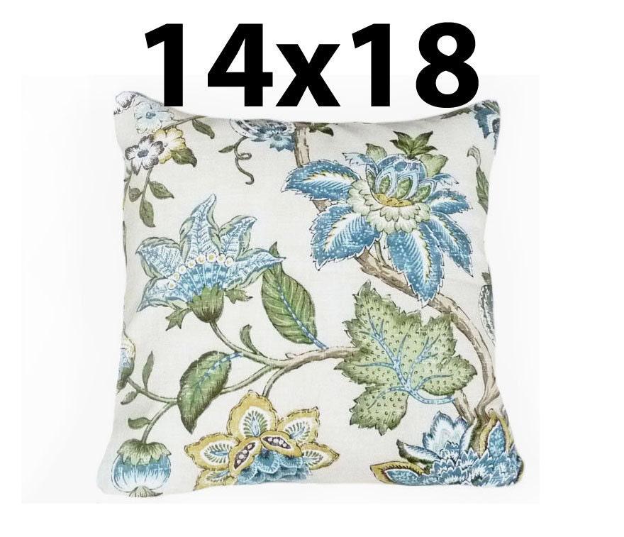 PILLOW SALE Blue Cream Floral Pillows Floral Throw Pillow