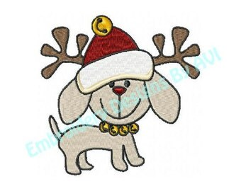 Christmas Puppy Dogs Machine Embroidery Designs - Set of 10 Instant Download Sale