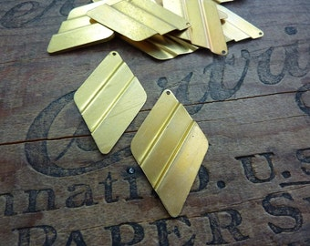Brass Stamping Vintage Geometric Brass Stampings 30x50mm (4)