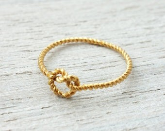 Ursula Ring, knot ring, rope jewelry