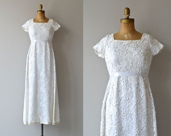 Thing of Beauty gown | vintage 60s wedding dress • 1960s lace dress