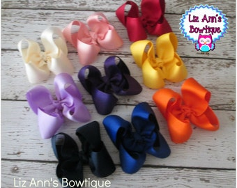 Bows Children Hair Accessories Twisted Boutique bows, set of 8 bows