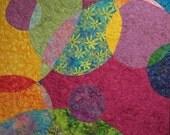 Rainbow Bubbles Art Quilt