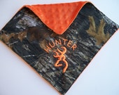Camo Personalized burp cloth blanket