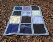Tshirt Memory Quilt with Your  Tee Shirts