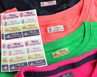 GIRLS mini iron-on clothing and fabric labels