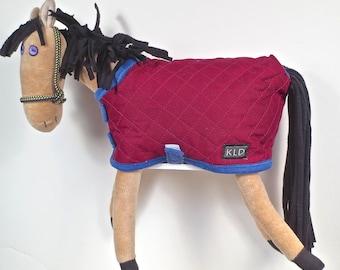 Purple Eyed Pony/ Buckskin / Maroon Quilted Blanket