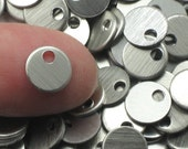 "100 Or More 3/8"" Brushed Aluminum Blanks Mini Stamping Tags 20 Gauge Discs Aluminum Blanks Metal Discs for Stamping Blank Stamping 3/8 Blank"