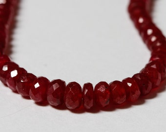AAA Ruby Faceted Rondelle Beads 2.5mm - 4.3mm  - 9 or 12 beads