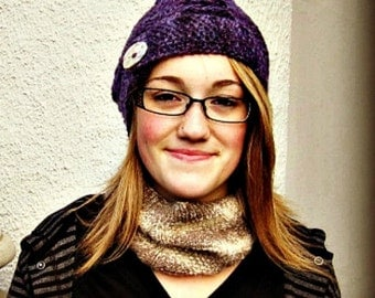 Brittany Knitted Slouch Hat Pattern