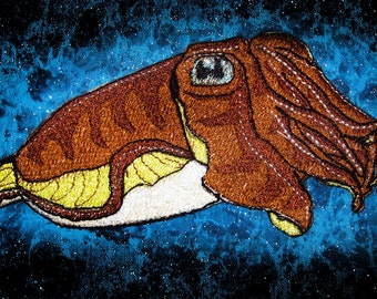 Natural Cuttlefish  Iron on patch