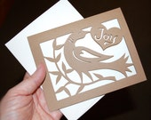 Take Joy Papercut Notecard, Encouragement, Friendship