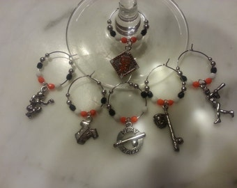 San Francisco Giants  Baseball Wine Charms w/ Pouch