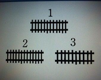 Train Tracks Decal
