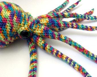 Rainbow Octopus Plushie Stuffed Octopus Plush