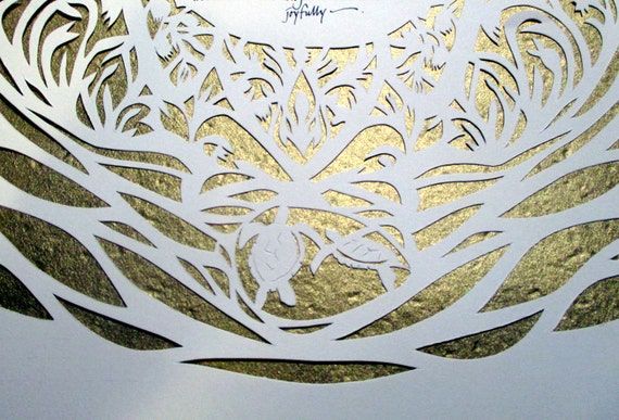 Traditional Hamsa Papercut Ketubah - reserved for Shira and James
