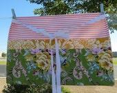 Craft Vendor Teacher Apron with Jennifer Paganelli Circa fabrics and Pink Ticking