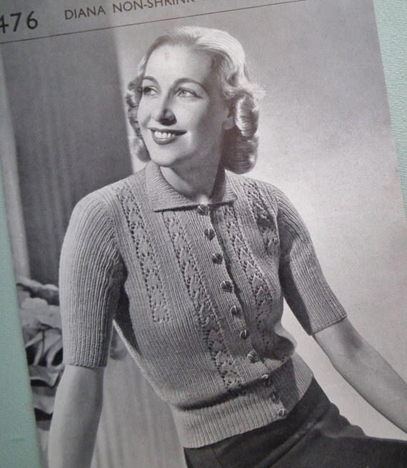 patron tricot annee 40