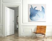 "Large abstract original painting, ""Norway"" by artist Julie Tillman, 2014. Home Decor. minimalism. minimalist. watercolor. modern art."