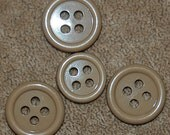 Vintage Lot of 4 Mixed Style Coffee and Cream Buttons  N4R