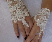 Bridal Wrist Cuffs,White Lace Gloves