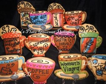 Coffee Cup Cookies - 12 - Cookies