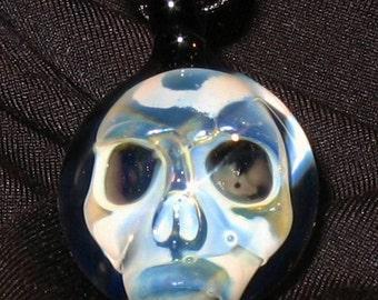 Phantom Skull Necklace- Blown Glass Pendant-MADE To ORDER
