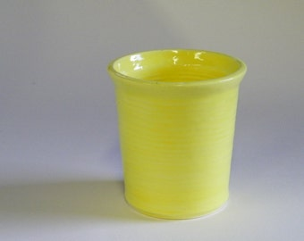 Yellow flower pot (tall)