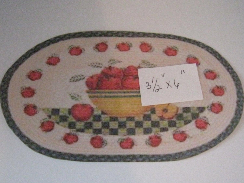 Kitchen Rug Apple Theme Twelfth Scale Dollshouse