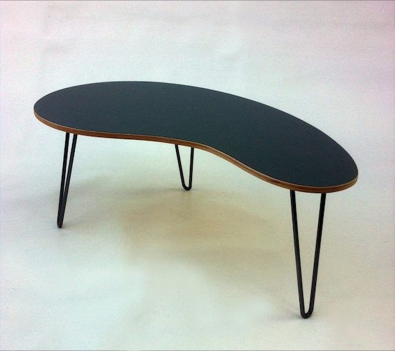 SALE Mid Century Modern Coffee Table Kidney Bean Shaped