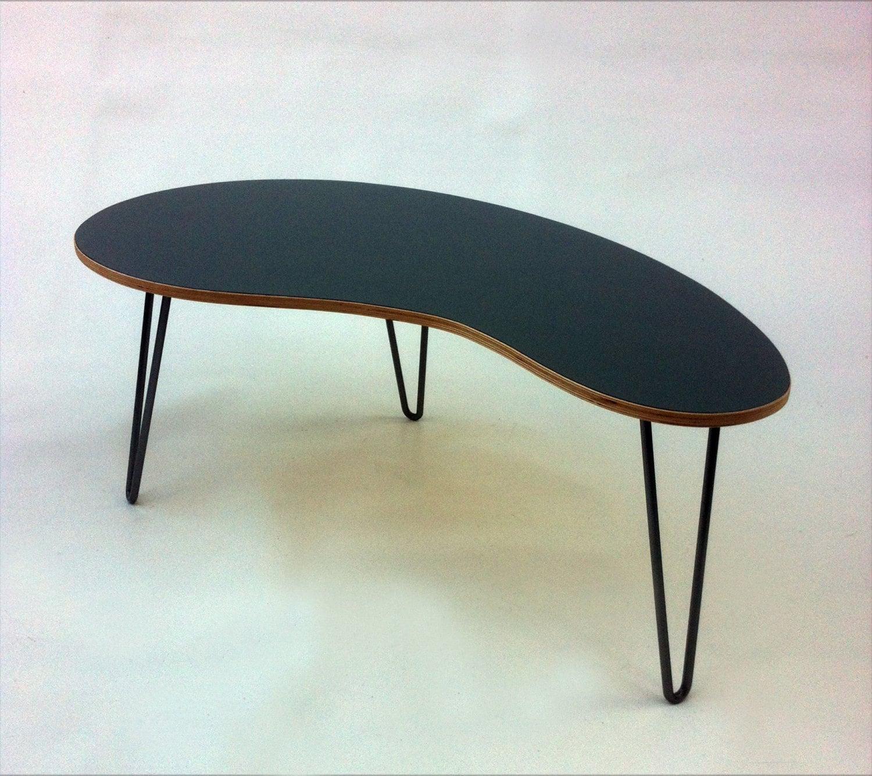 Mid Century Modern Coffee Table Kidney Bean Shaped Atomic: SALE Mid Century Modern Coffee Table Kidney Bean Shaped